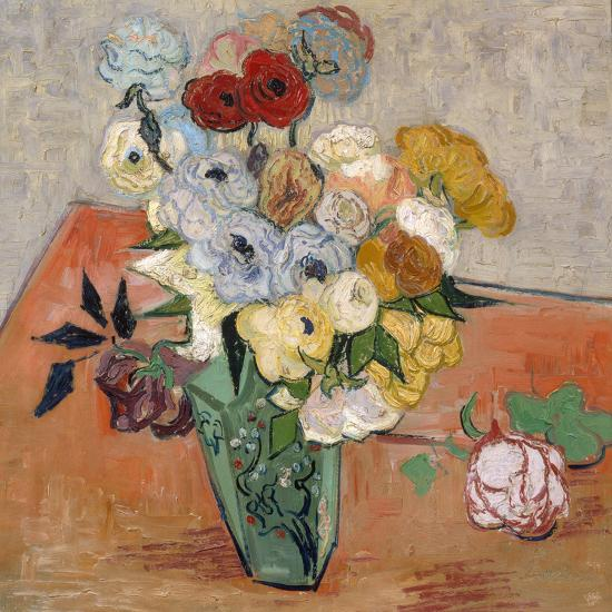 Vase with Roses and Anemones, 1890-Vincent van Gogh-Giclee Print