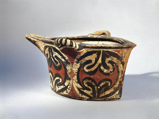 Vase with Spout in Ceramic by Kamares with Polychrome Decoration, from Palace of Festos--Giclee Print