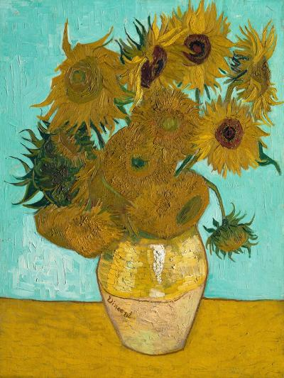 Vase with Sunflowers, 1888-Vincent van Gogh-Giclee Print