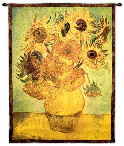 Vase with Twelve Sunflowers, c.1889-Vincent van Gogh-Wall Tapestry