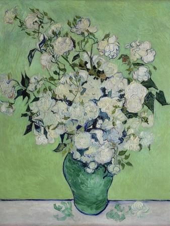 Vase with White Roses, 1890-Vincent van Gogh-Giclee Print