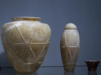 Vases, Alabaster, Archaic Period, I Dynasty--Giclee Print