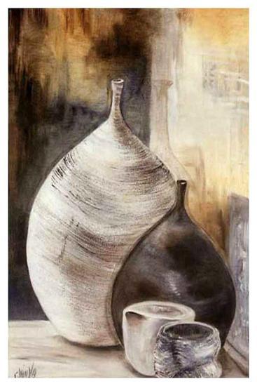 Vases Gris-Clauva-Art Print