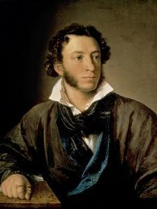 Portrait of Alexander Pushkin (1799-1837) by Vasili Andreevich Tropinin
