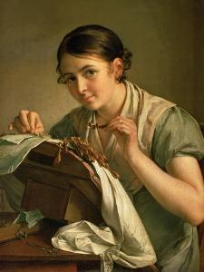 The Lacemaker, 1823 by Vasili Andreevich Tropinin