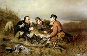 Hunters, 1816 by Vasili Grigorevich Perov