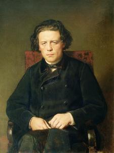 Portrait of Anton Rubinstein 1870 by Vasili Grigorevich Perov