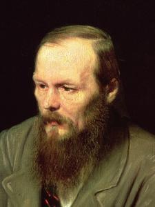 Portrait of Fyodor Dostoyevsky (1821-81) 1872 by Vasili Grigorevich Perov
