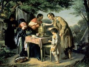 Tea Drinking in Mytishchi, Near Moscow, 1862 by Vasili Grigorevich Perov