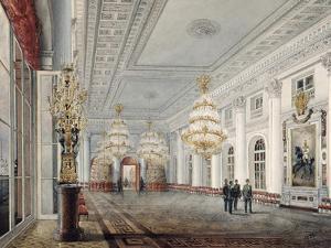 The Great Hall, Winter Palace, St. Petersburg, 1837 by Vasili Semenovich Sadovnikov