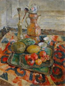 Asian Tea, 1926 by Vasili Vasilyevich Rozhdestvensky