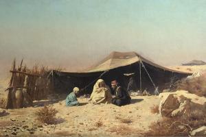 Arabs in the Desert. Koran Study by Vasili Vasilyevich Vereshchagin