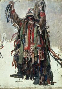 "A Shaman, Sketch for ""Yermak Conquers Siberia,"" 1893 by Vasilii Ivanovich Surikov"