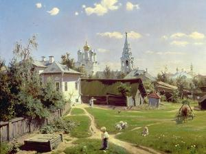 A Small Yard in Moscow, 1878 by Vasilij Dmitrievich Polenov