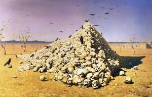An Allegory of the 1871 War, 1871 by Vasilij Vereshchagin