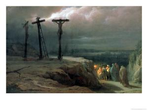 Night at Golgotha, 1869 by Vasilij Vereshchagin