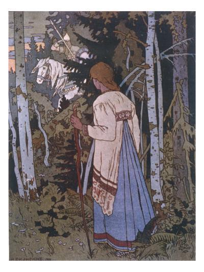 Vasilissa on Her Way to Visit the Baba Yoga--Giclee Print