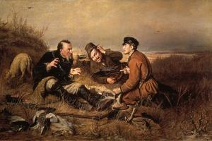 Hunters, 1871 by Vasily Perov