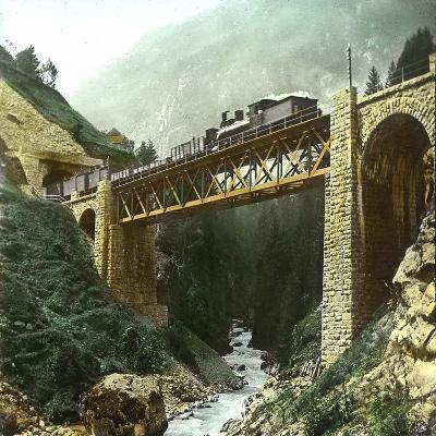 Vassen (Switzerland), Bridge of the Saint-Gothard Railroad, Circa 1865-Leon, Levy et Fils-Photographic Print