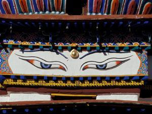 Buddha Eyes at Kumbum, Tibet by Vassi Koutsaftis