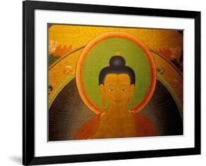 Buddha on a Thanka Painting, Tibet by Vassi Koutsaftis