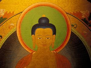 Buddha on a Thanka Painting, Tibet by Vassi Koutsaftis