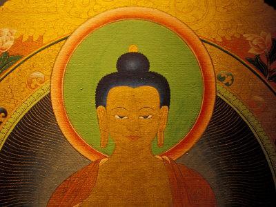 Buddha on a Thanka Painting, Tibet
