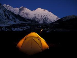 First Light on Mt. Everest From the Kangshung, Tibet by Vassi Koutsaftis