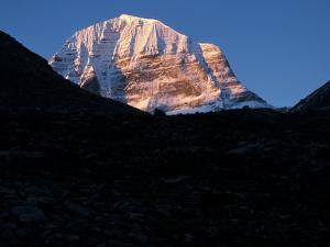 First Light on Mt. Kailash, Tibet by Vassi Koutsaftis