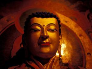 Gyentse Buddha Statue, Tibet by Vassi Koutsaftis