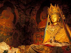 Monastery Statue, Lhasa, Tibet by Vassi Koutsaftis