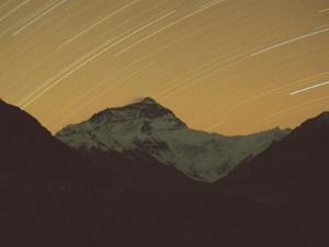 Mt. Everest with Stars, Tibet by Vassi Koutsaftis