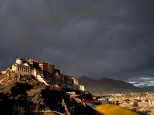 Potala at Sunset, Lhasa, Tibet by Vassi Koutsaftis