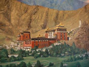 Tashilumpo Wall Painting, Tibet by Vassi Koutsaftis