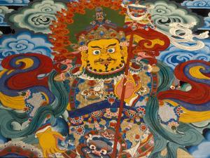 Wall Mural at Tashilumpo, Tibet by Vassi Koutsaftis