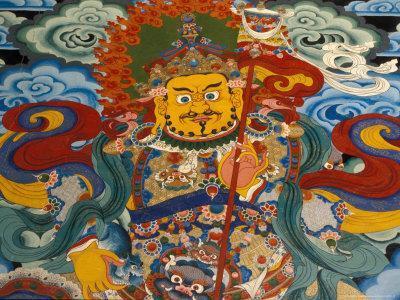 Wall Mural at Tashilumpo, Tibet