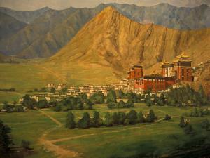 Wall Mural of Tashilumpo, Tibet by Vassi Koutsaftis