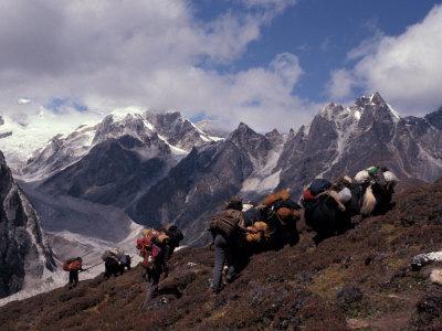 Yak Drivers Above the Kangshung, Tibet