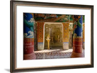 Vat Nokor, Angkorian Sanctuary Dated 11th Century and Modern Temple, Kompong Cham (Kampong Cham)-Nathalie Cuvelier-Framed Photographic Print