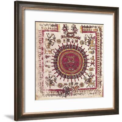 Vatican, Aztec Calendar, from the Codex Borgianus Mexicanus 1--Framed Giclee Print