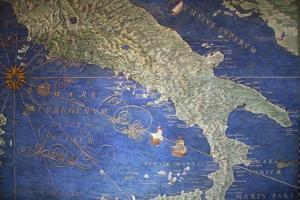 Vatican Museum: Map of Italy