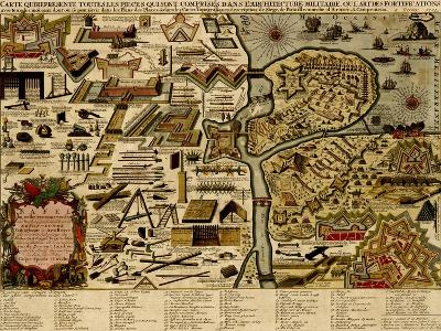 Vauban Defenses on the Narva, Estonia - 1700-Anna Beeck-Art Print