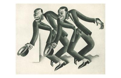 Vaudeville Team Redo No-Covarrubias-Art Print