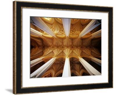 Vault Ceiling in 15th-Century Frauenkirche (Church of Our Lady), Munich, Germany-Krzysztof Dydynski-Framed Photographic Print