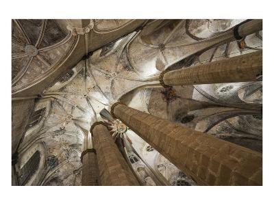 Vault in Santa Maria del Mar in Barcelona, Catalonia, Spain--Art Print