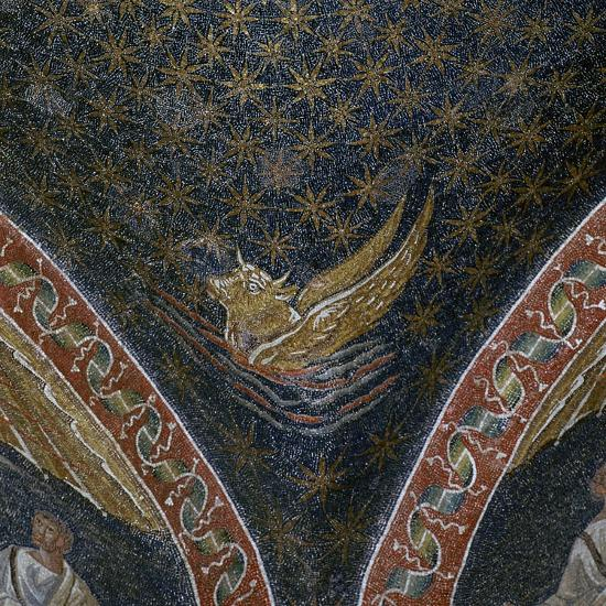 Vault mosaic from the Mausoleum of Galla Placida, 5th century-Unknown-Giclee Print