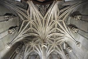 Vault of Gothic Chapel, Musee De Cluny, Paris, Ile-De-La-Cite, France
