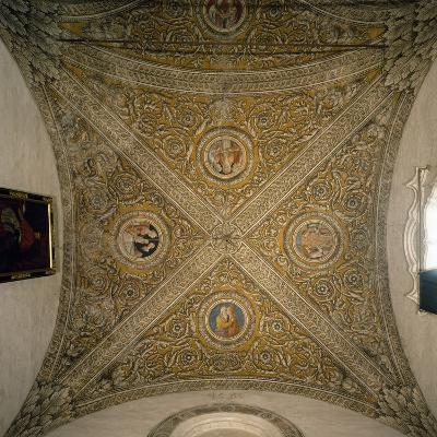 Vault of Sacristy and Nave of Chapel of Cathedral of Mantua--Photographic Print