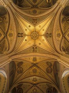 Vault of the Church of St. Ludmila, Prague, Czech Republic