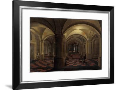 Vaulted Interior with Figures-Pieter The Elder Neeffs-Framed Giclee Print